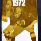 1972 College and Professional Football Booklet Esso Exxon Adv