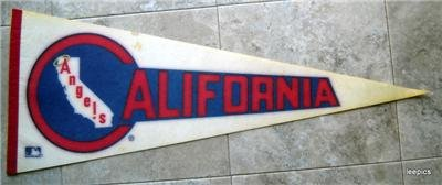 "California Angels Baseball Pennant 1970s  MLB Logo Full Size 29 1/2"" x 12"""