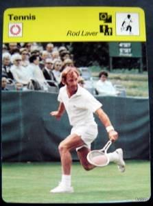 1977-1979 Sportscaster Card Tennis Rod Laver 08-03