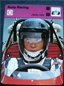 1977-1979 Sportscaster Card Auto Racing Jacky Ickx 06-03