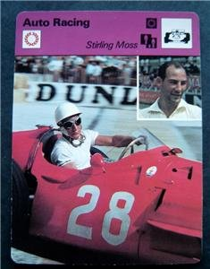 1977-1979 Sportscaster Card Auto Racing Stirling Moss 09-15