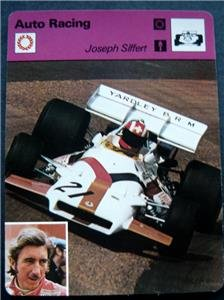 1977-1979 Sportscaster Card Auto Racing Joseph Siffert 11-02