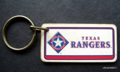 Texas Rangers Plastic Key Chain Tag Express MLB 1993 2 1/4""