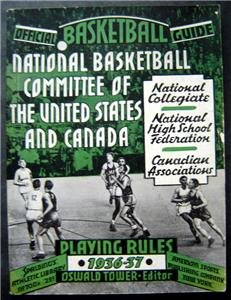 1936-1937 Natinal Basketball Spalding Official Guide Book and Playing Rules
