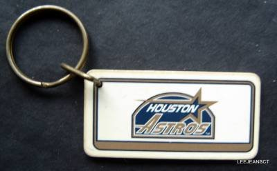 Houston Astros Plastic Key Chain Tag Express MLB 1993 2 1/4""