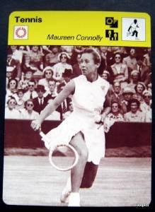 1977-1979 Sportscaster Card Tennis Maureen Connolly 15-19