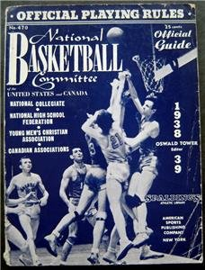 1938-1939 Natinal Basketball Spalding Official Guide Book and Playing Rules