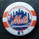 "Vintage 1986 New York Mets Skyline Baseball PIN Soundaround 3"" Diameter"