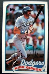 1989 Topps Baseball Talk Card Kirk Gibson Los Angeles Dodgers # 67