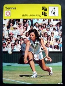 1977-1979 Sportscaster Card Tennis Billie Jean King 08-09
