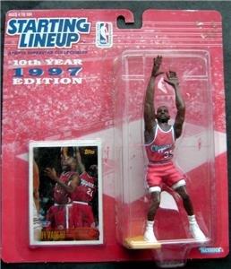 Starting Lineup SLU Loy Vaught 1997 LA Clippers Basketball Figure & Card MIP