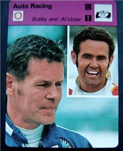 1977-1979 Sportscaster Card Auto Racing Bobby and Al Unser 16-04
