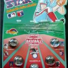 Super Star Collectible Action 5 Marbles Baseball Set # 1 Griffey Jr Ryan Puckett