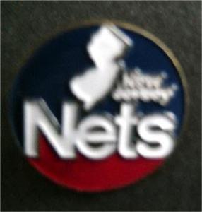 "New Jersey Nets NBA Basketball Pin Round 3/4"" Diameter"
