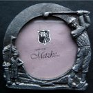Vintage Golf Theme Pewter Frame Design by Metzke 1988