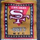 "San Francisco 49ers  NFL Football Cloth 2"" Jersey / Shirt Label EX"