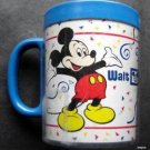 Vintage Walt Disney World 15 Years Mickey Mouse Blue Plastic Cup with Handle