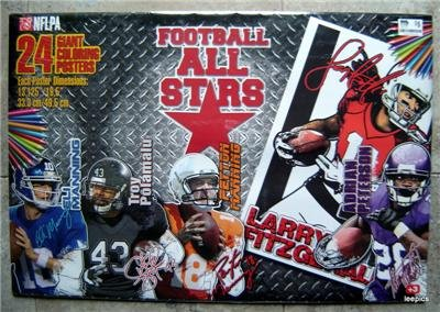 Football All Stars 24 Giant Coloring Posters Brady Rodgers Manning Rice Luck MIP
