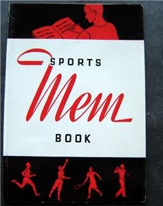 "Vintage Sports ""Mem"" (Memory) Book 24 Page Booklet for Autographs"