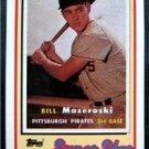 1989 Topps Baseball Talk Card Super Star Bill Mazeroski Pitts Pirates # 19 Card