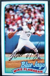 1989 Topps Baseball Talk Card Mike Flanagan Toronto Blue Jays  # 108