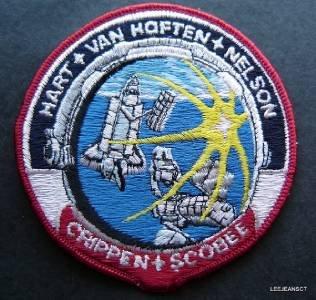 "NASA STS-41C Swissartex Space Patch 4"" Round Crippen Scobee Hart Nelson"