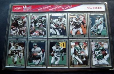 1990 Action Packed 10 Card Team Set NY Jets NFL Football Sealed