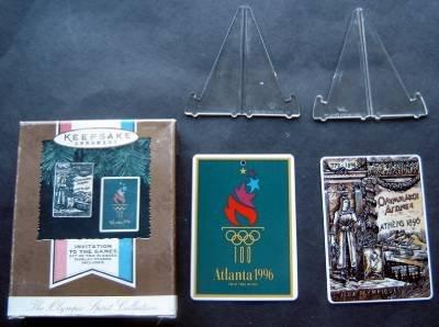 1996 Atlanta Olympics Hallmark Keepsake Ornament  Invitation to the Games