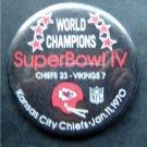 World Champions Super Bowl IV 4 Football PIN Jan 11 1970 Chiefs vs Vikings