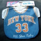 New York Knicks All Star Baby Bib MOC by Diana 50% Cotton 50% Polyester