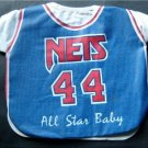 New York Nets All Star Baby Bib MOC by Diana 50% Cotton 50% Polyester
