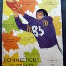 Vintage NCAA College Football Program Buffalo vs. Univ of Conn Sept 27 1952