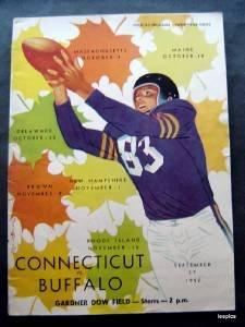 Vintage NCAA College Football Program Buffalo vs. Univ of Conn Sept 27 1952