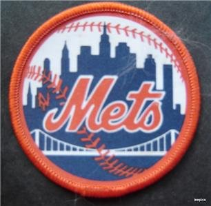 """New York Mets Baseball 2 3/4"""" Round Cloth Patch"""