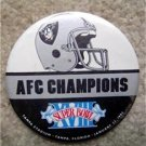 "Oakland Raiders AFC Champions 1984 SB Football PIN 3 1/4"""