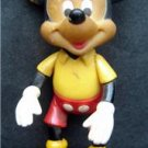 """Vintage Mickey Mouse Walt Disney Posable Jointed Figure 6"""" tall Hong Kong"""