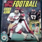 1982 Topps Football Sticker Album with Most Stickers with Joe Montana Rookie