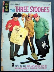 Three Stooges Comic Book Curly Joe 1964 # 16 Gold Key