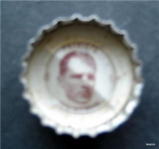 1960's  Coke Bottle Cap Football New England Patriots Jon Morris
