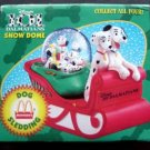 Disney Snow Dome Globe 101 Dalmatians McDonalds 1996  - Dog Sledding  MIB