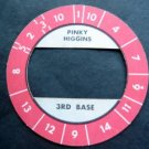 Cadaco All-Star Baseball Game Disk Red Border Pinky Higgins 3rd Base
