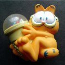 Garfield the Cat with Ice Cream Cone Childs Toy Rattle Soft Plastic