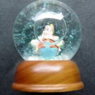 Disney Snow Dome Globe HAPPY Snow White Dwarf Limited Edition Wood Base
