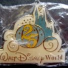 Walt Disney World 25th Anniversary Pin with Safety Tack Back