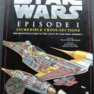 "Star Wars Episode 1 Incredible Cross Sections Book w Dust Jacket 1999 11"" x 14"""
