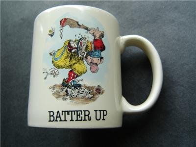 Batter Up Comic Gary Patterson Sports Collection Ceramic CUP 1984 Japan