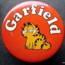 "Garfield the Cat Red Round Metal Tin 4"" Diameter Bristol Ware Made in USA"