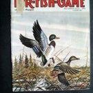 Oct 1973 FUR-FISH-GAME Mallard Ducks Cover Tim Johnson Fish Hunt Outdoor Sports
