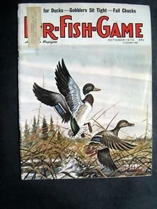 Oct 1973 FUR-FISH-GAME Mallard Ducks Cover Tim Johnson Fish Hunt Outdoor Sports