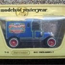 Matchbox Model Yesteryear 1912 Ford T Birds Custard Powder Car